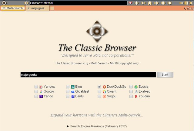 Download The Classic Browser - MajorGeeks