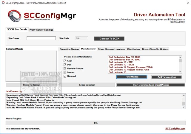 Download Driver Automation Tool - MajorGeeks