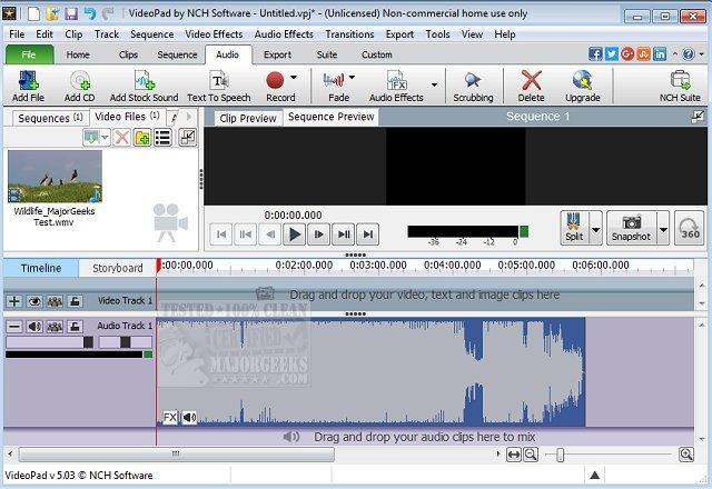 Download VideoPad Video Editor - MajorGeeks