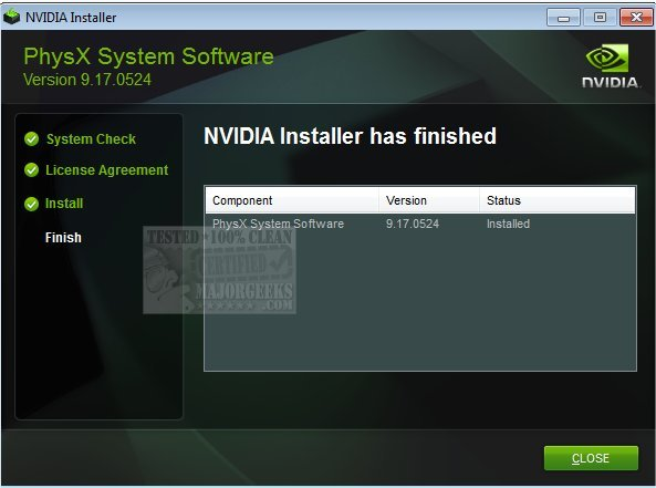 Download NVIDIA PhysX System Software - MajorGeeks