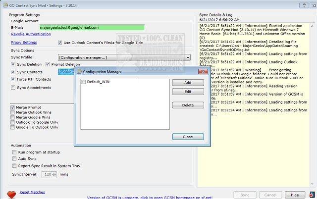 Download GO Contact Sync Mod - MajorGeeks