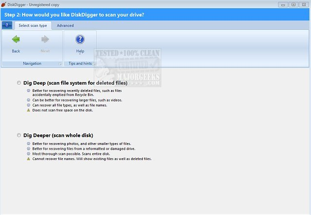 Download DiskDigger - MajorGeeks