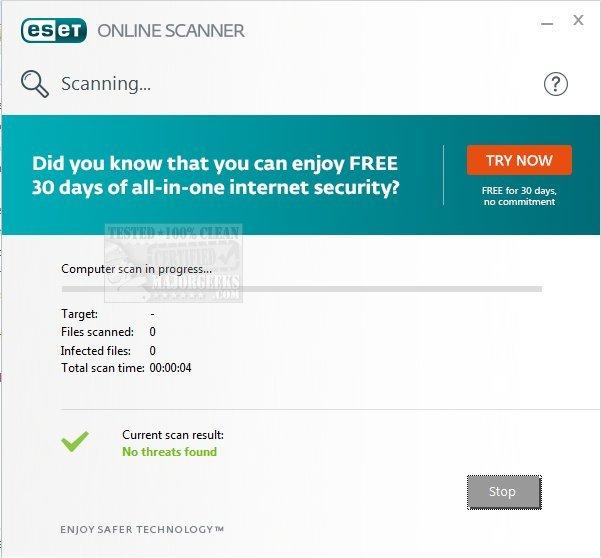 Download ESET Online Scanner - MajorGeeks