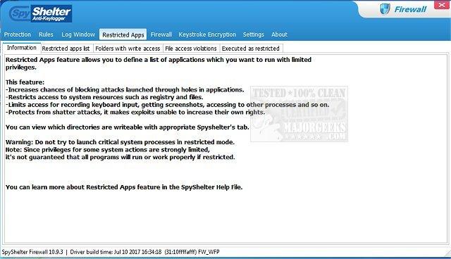 Download SpyShelter Firewall - MajorGeeks