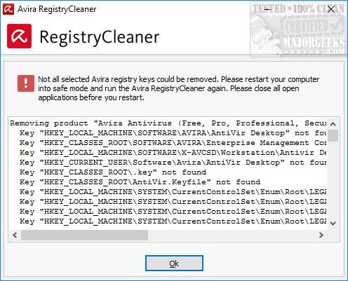 Download Avira Registry Cleaner - MajorGeeks
