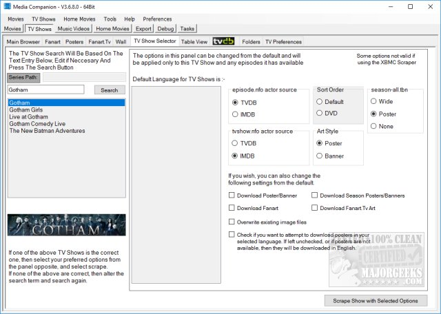 Download Media Companion 64-Bit - MajorGeeks