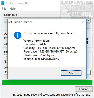 Download SD Memory Card Formatter - MajorGeeks