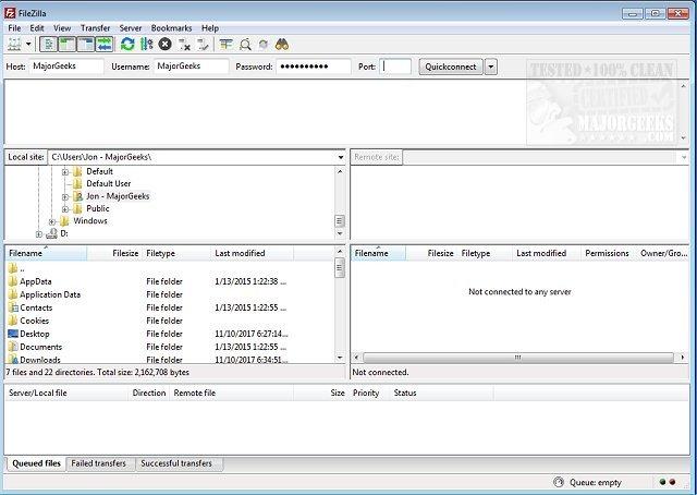 Download FileZilla 64-Bit - MajorGeeks