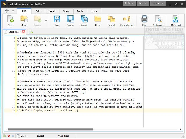 Download Text Editor Pro - MajorGeeks