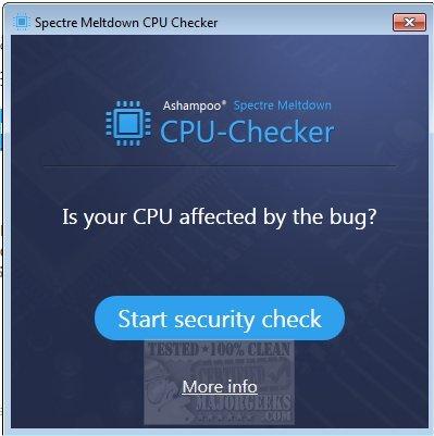 Download Ashampoo Spectre Meltdown CPU Checker - MajorGeeks