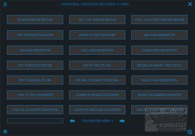 Download Universal Encoder Decoder - MajorGeeks