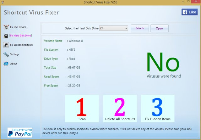 Download Shortcut Virus Fixer - MajorGeeks
