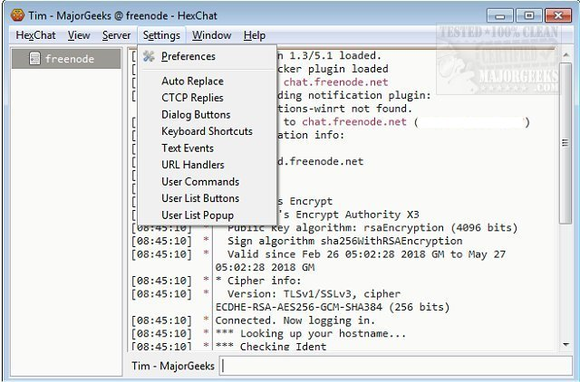 Download HexChat - MajorGeeks