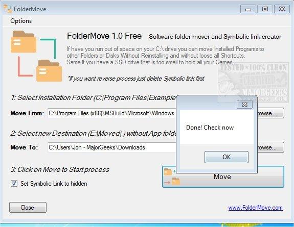 Download FolderMove - MajorGeeks