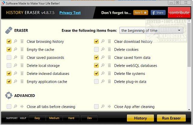 Download History Eraser - MajorGeeks