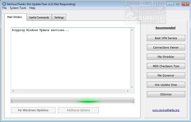 Download NoVirusThanks Win Update Fixer - MajorGeeks