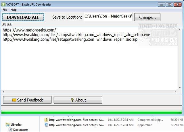 Download Vov Batch URL Downloader - MajorGeeks