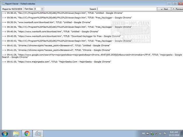 Download Free Keylogger - MajorGeeks