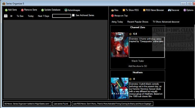 Download Series Organizer - MajorGeeks
