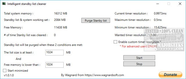 Download Intelligent Standby List Cleaner - MajorGeeks