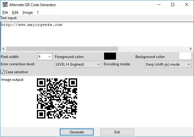 Download Alternate QR Code Generator - MajorGeeks