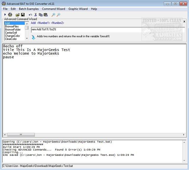 Download Advanced BAT to EXE Converter - MajorGeeks