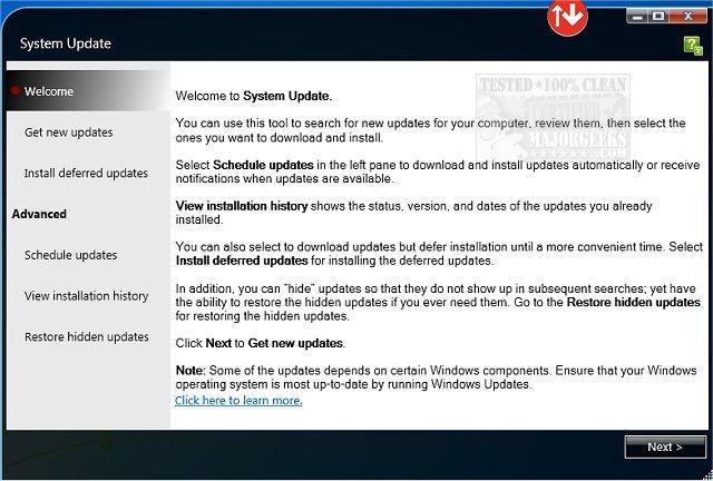 Download Lenovo System Update - MajorGeeks