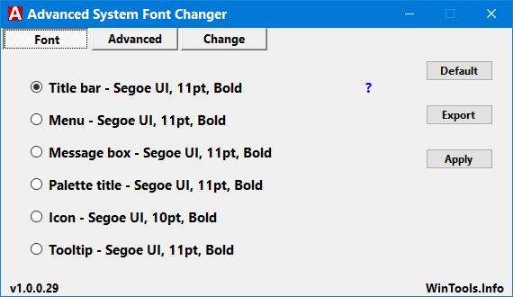 Download Advanced System Font Changer - MajorGeeks