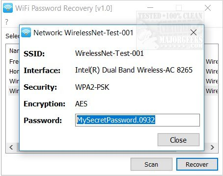 Download Wifi Password Recovery - MajorGeeks