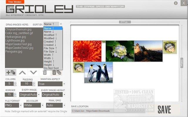 Download Gridley The Image Grid Generator - MajorGeeks
