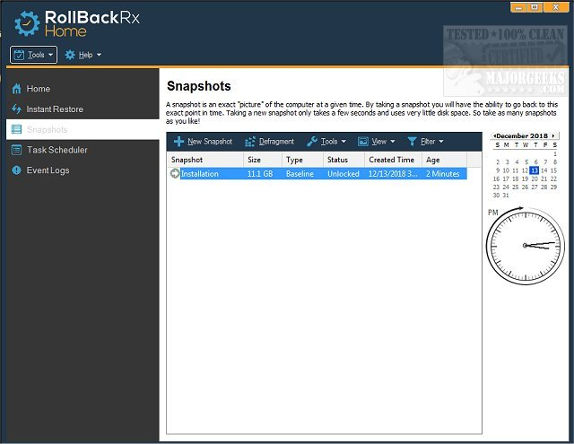 Download RollBack RX Home Edition - MajorGeeks