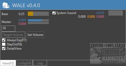 Download Windows Audio Loudness Equalizer (WALE) - MajorGeeks