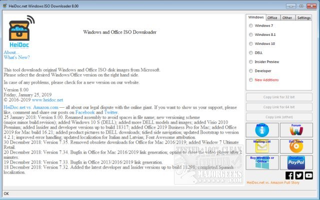 Download Microsoft Windows and Office ISO Download Tool