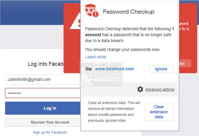 Download Password Checkup for Chrome - MajorGeeks