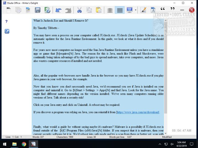 Download SSuite Writer's D'Lite - MajorGeeks