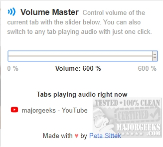 Download Volume Master for Chrome - MajorGeeks