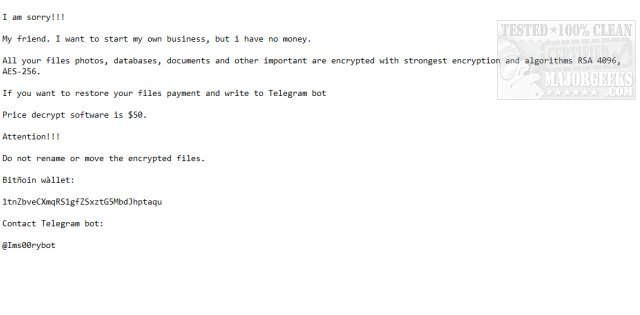 Download Emsisoft Decrypter for Ims00rry - MajorGeeks