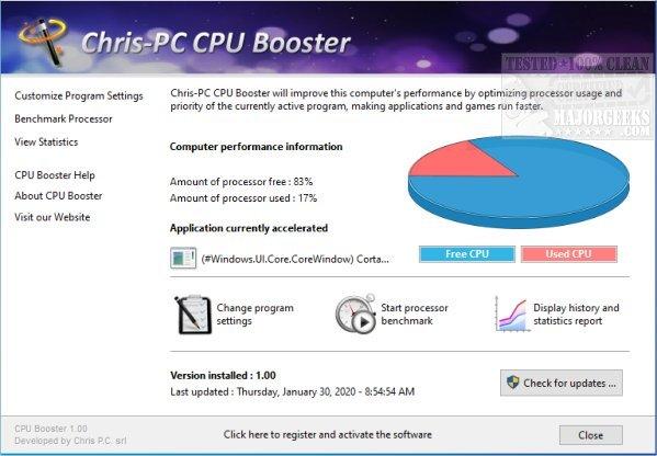 Download Chris-PC CPU Booster - MajorGeeks