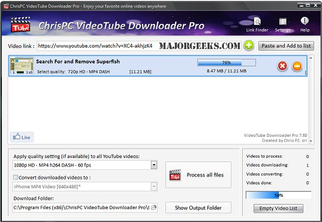 ChrisPC VideoTube Downloader Pro 9.13.23