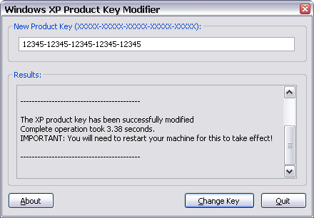 Download Windows XP Product Key Modifier - MajorGeeks