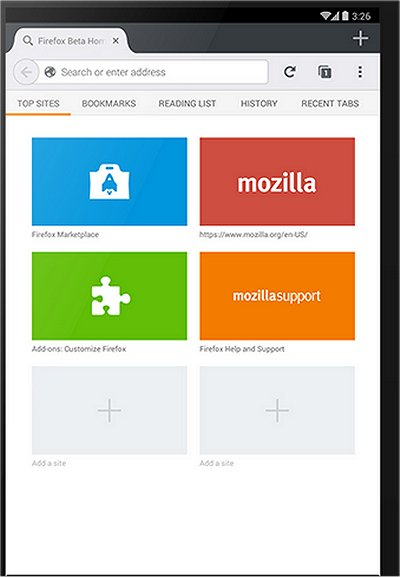 Download firefox v7 for your android phone.