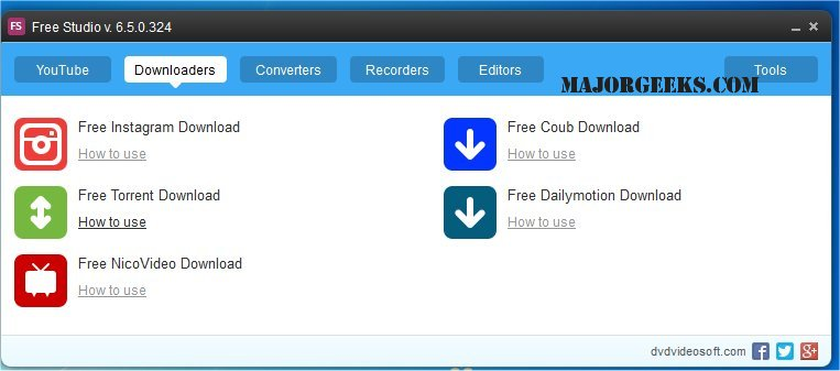 5. DVDVideoSoft Free Studio