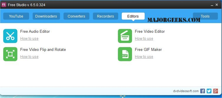 Download DVDVideoSoft Free Studio - MajorGeeks
