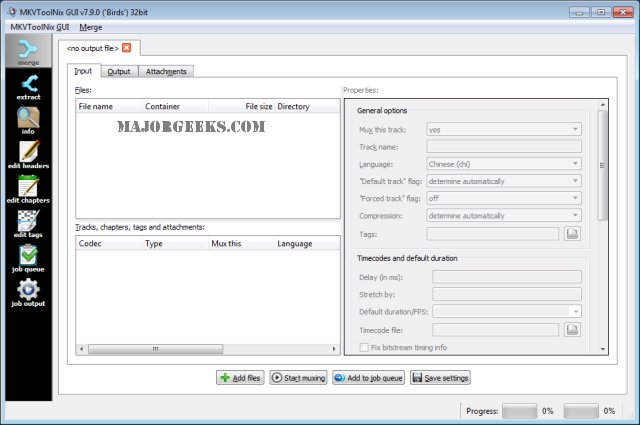 Download MKVToolnix 32-Bit - MajorGeeks