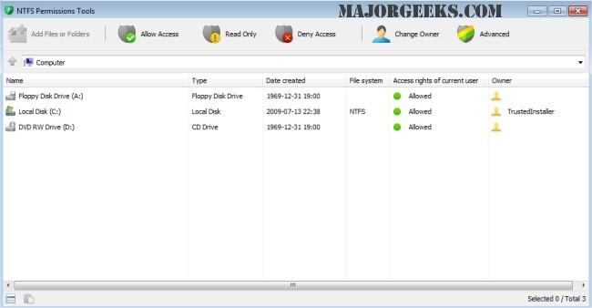Download NTFS Permissions Tools - MajorGeeks