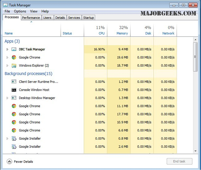 Download DBC Task Manager - MajorGeeks