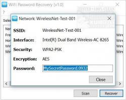 forgot my wifi password windows xp