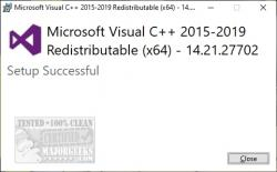 Download Microsoft Visual C++ 2015-2019 Redistributable