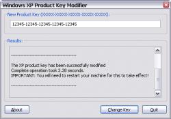 change windows xp product id in registry