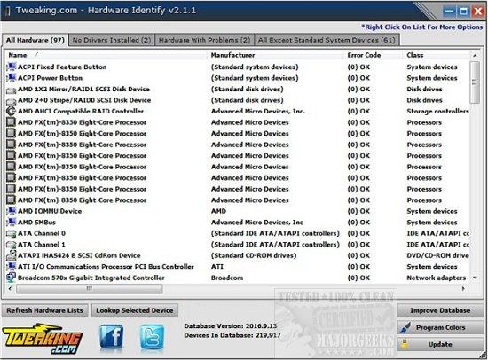 Tweaking com - Hardware Identify Quickly Identifies System Hardware